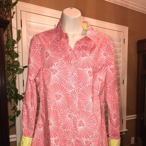 BODEN Pink Floral Button Down Top